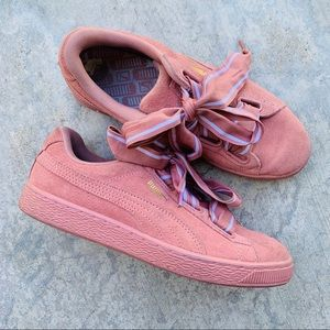 PUMA pink on pink suede classic sneaker